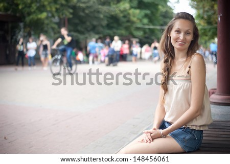 Portrait of young girl  - stock photo