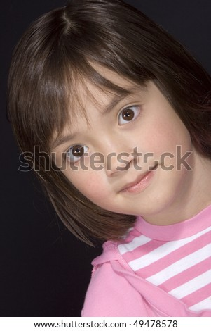 Portrait of young girl 4. - stock photo