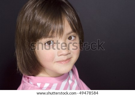Portrait of young girl 2. - stock photo