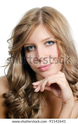 Portrait of young girl with beautiful hair