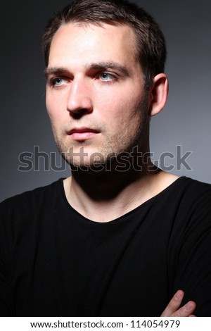portrait of young good looking male model