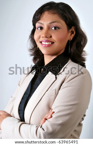 Portrait of Young Indian  Business Woman - stock photo