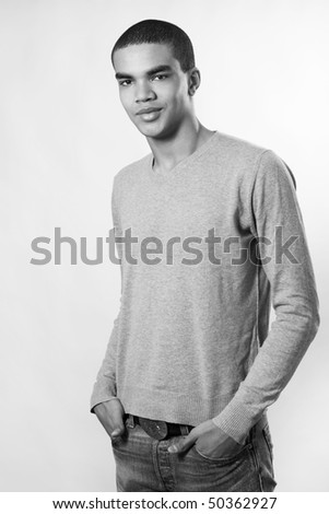 Portrait of young man. - stock photo