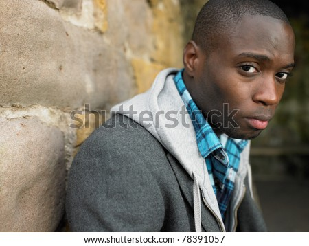 Portrait of young man - stock photo