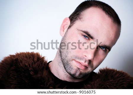 Portrait of young man - shallow depth of field. - stock photo