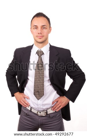 Portrait Of Young Man Wearing Shirt And Tie - stock photo