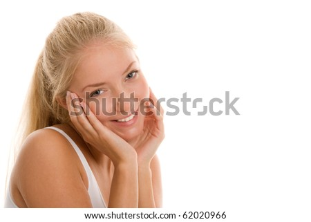 Portrait of young pretty girl - stock photo