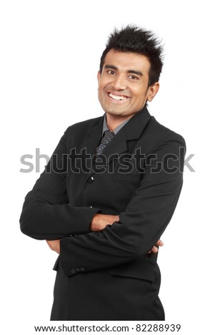 portrait of young professional businessman - stock photo
