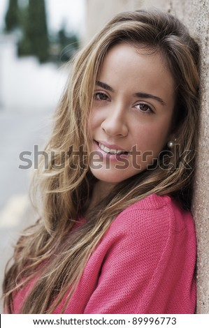 Portrait of young smiling  relaxed girl