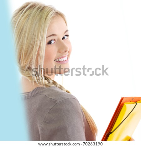 portrait of young student - stock photo
