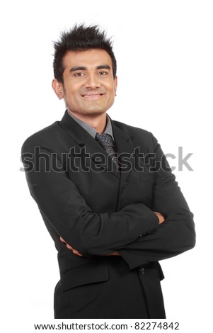 portrait of young succesful businessman - stock photo