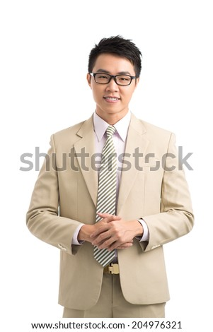 Portrait of young Vietnamese businessman - stock photo
