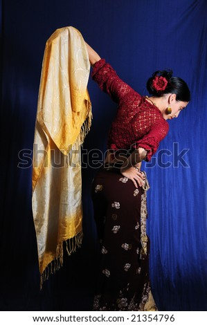 Portrait of young woman dressed in traditional indian clothes - stock photo