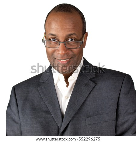 portrait photo a middle age african american business man