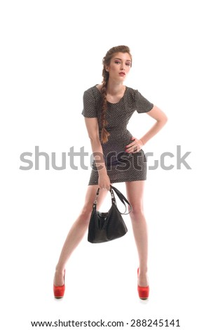 portrait photography girl on an isolated background