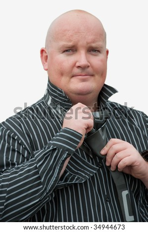 portrait picture of a male in middle 30's - stock photo
