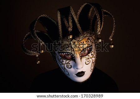 portrait with Venice mask