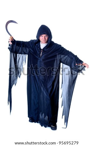Portrait - young man in a Halloween costume - stock photo