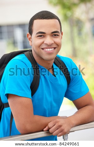 Portrait young man outdoors