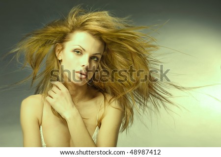 Portrait young woman - stock photo