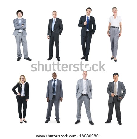 Portraits of Multi Ethnic Cheerful Business People