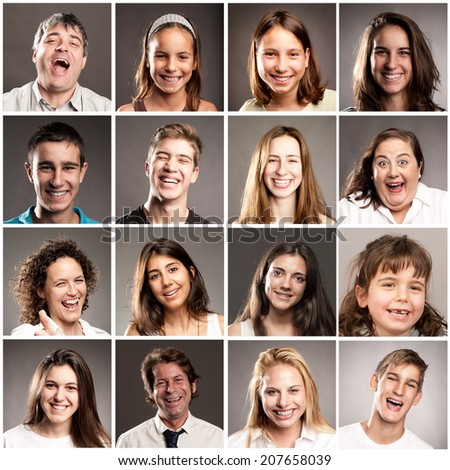 portraits of people with happy expression