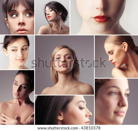 portraits of women - stock photo