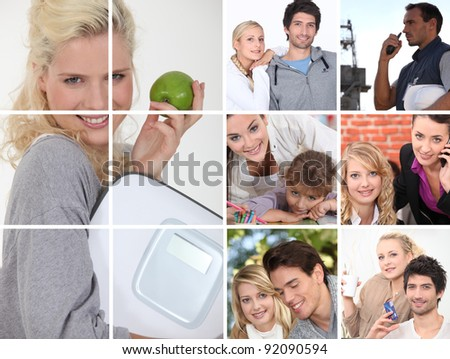 Portraits of young adults - stock photo