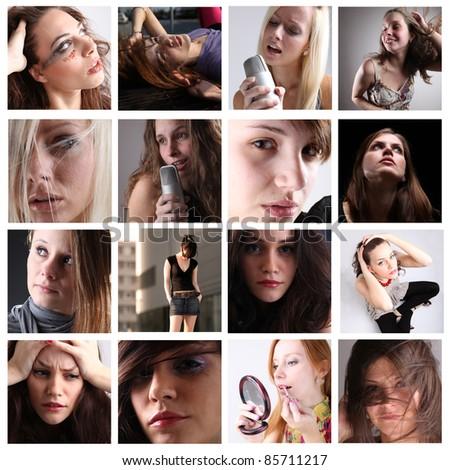 Portraits series - stock photo