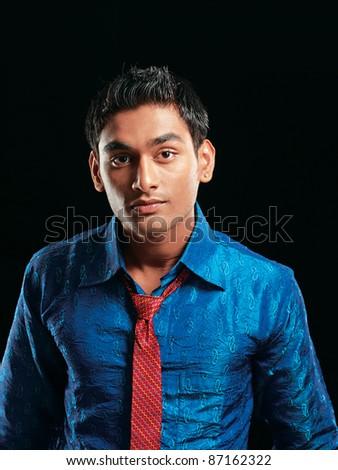portraits young fashion man model - stock photo