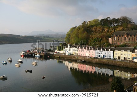 Portree, Isle of Skye - stock photo