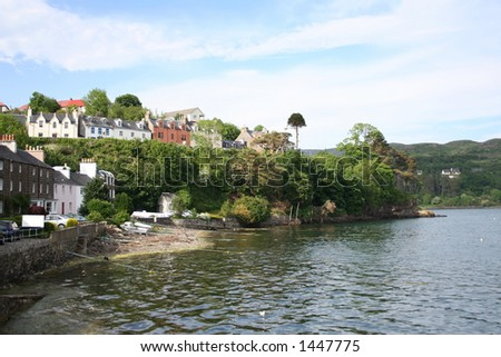 Portree Isle of Skye, Scotland - stock photo