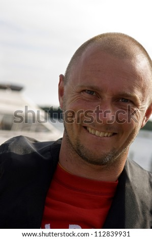 Portriat of a smiling man, Sweden.