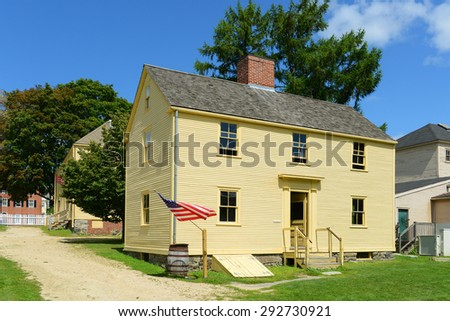 PORTSMOUTH, NH, USA - AUG 18: Jackson House was built in 1790 at Strawbery Banke Museum on August 18, 2014 in Portsmouth, New Hampshire, USA. - stock photo