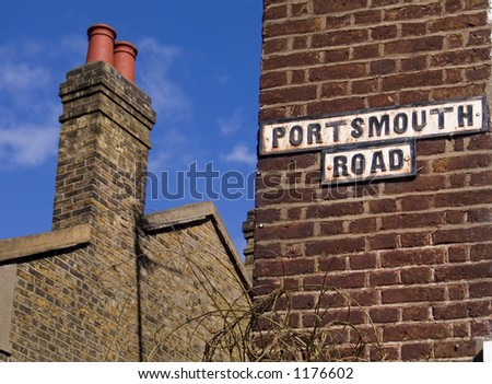 Portsmouth Road - stock photo