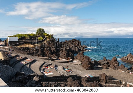 Portugal, Azores, Pico island - stock photo