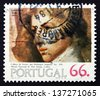 PORTUGAL - CIRCA 1984: a stamp printed in the Portugal shows Cabeca de Jovem, Painting by Domingos Sequeira, 19th Century, circa 1984 - stock photo