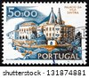PORTUGAL - CIRCA 1972: a stamp printed in the Portugal shows City Hall, Sintra, Tourist Attraction, circa 1972 - stock photo