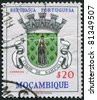PORTUGAL - CIRCA 1961: A stamp printed in the Portugal, the emblem of the province of Nampula (overprint Mozambique), circa 1961 - stock photo