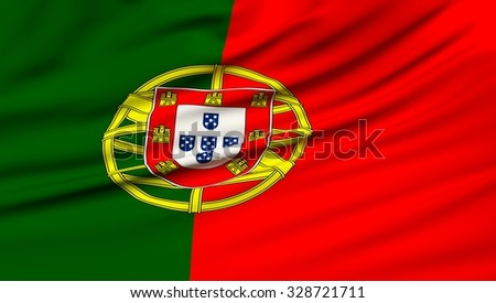 Portugal Flag. 3d illustration