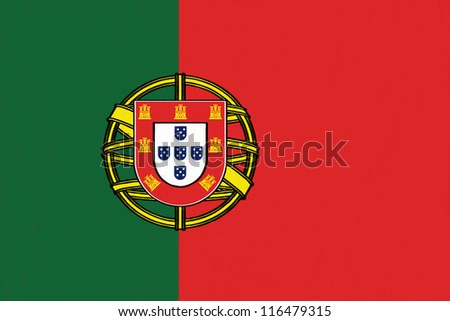 Portugal  flag drawing by pastel on charcoal paper - stock photo