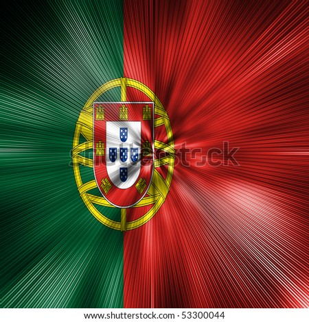 Portugal flag Energy Warp - stock photo