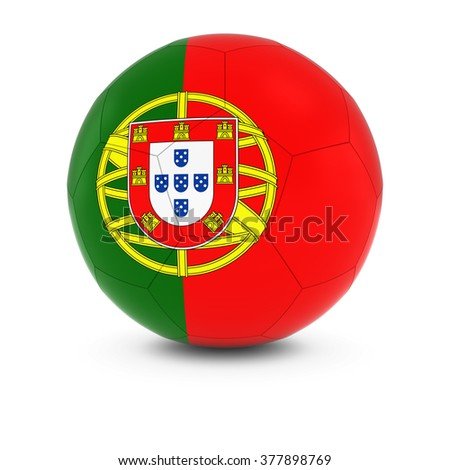 Portugal Football - Portuguese Flag on Soccer Ball