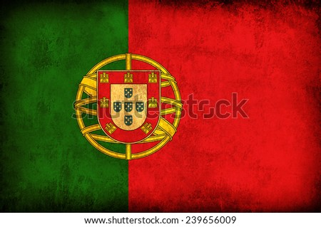 Portugal grunge flag - stock photo