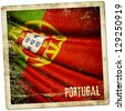 Portugal grunge sticker - stock photo