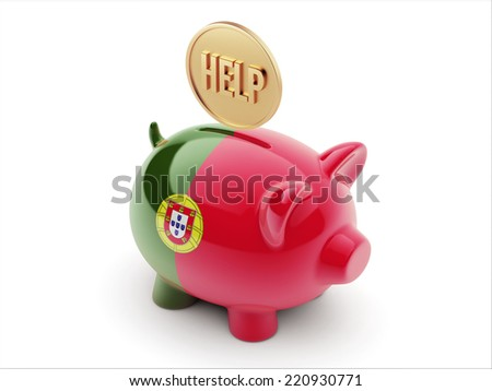 Portugal High Resolution Help Concept High Resolution Piggy Concept