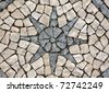 "Portugal Lisbon typical Portuguese  ""calcada"" mosaic  cobble stone paving - stock photo"