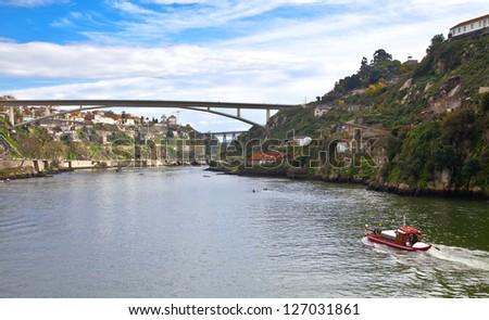Portugal. Porto. Douro river and the city of Porto - stock photo