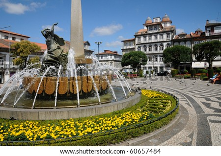 Portugal, square in Guimaraes