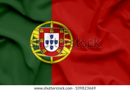 Portugal waving flag - stock photo
